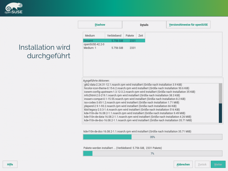 openSUSE Installation Installation