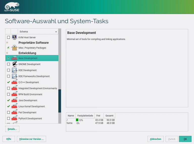 openSUSE Installation Software