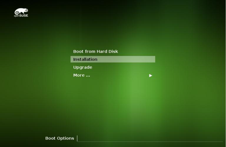 openSUSe Installation Bootloader