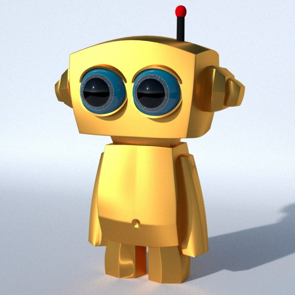 Burby, Little Robot made with Blender rendered in cycles