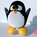Mini Tux with blender in cycöes